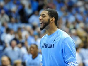 Leslie McDonald (2) cracks a smile during the North Carolina Tar Heels vs. Florida State Seminoles NCAA basketball game, Saturday, March 3, 2013 in Chapel Hill, NC.