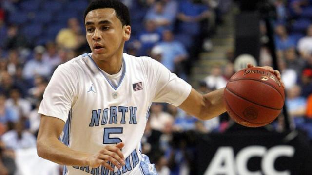 North Carolina's Marcus Paige during the Tar Heels' 83-62 victory over Florida State in the 60th ACC Tournament on Friday, March 15, 2013 in Greensboro, NC (Photo by Jack Morton).