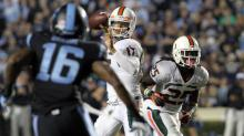IMAGES: Slideshow: North Carolina falls to No. 10 Miami, 27-23