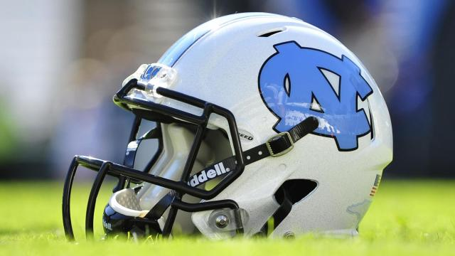 UNC Football Helmet