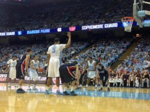 The Tar Heels struggled from the free throw line despite a multitude of opportunities against Belmont Sunday, Nov. 17, 2013.