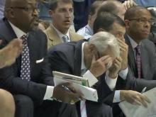 Roy Williams and UNC coaching staff
