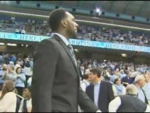 PJ Hairston in street clothes