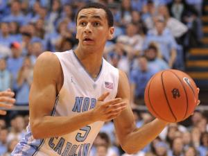 Marcus Paige (5) handles the ball during action at the Dean E. Smith Center between the North Carolina Tar Heels and the Miami Hurricanes on January 8, 2014 in Chapel Hill, NC. Miami won the contest over UNC 63-57. (Will Bratton/WRAL contributor)