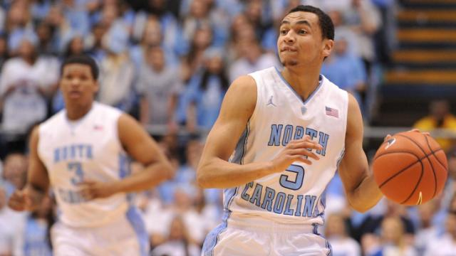 Marcus Paige (5) brings the ball up the court during action at the Dean E. Smith Center between the North Carolina Tar Heels and the Notre Dame Fighting Irish on March 3, 2014 in Chapel Hill, NC. (Will Bratton/WRAL contributor)