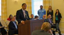 IMAGES: Athletes speak to UNC trustees about academic challenges