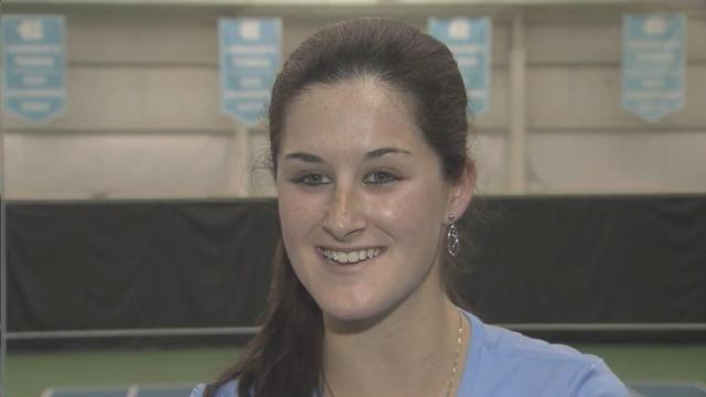 North Carolina freshman Jamie Loeb is ranked No. 1 in the NCAA and she's already a National Champion at Carolina winning the indoor title last fall.