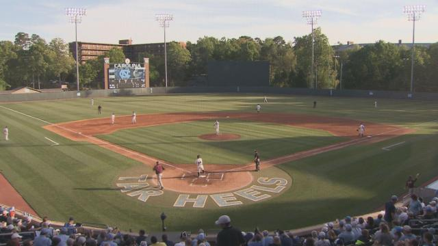 Alex Raburn had a career-high three hits and Parks Jordan drove in a pair of runs as North Carolina beat Virginia Tech 6-4 Saturday night at Boshamer Stadium.