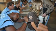 IMAGES: Images: UNC fans meet the 2014 Tar Heels