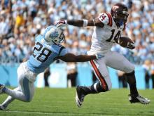Mistake-prone UNC falls to Virginia Tech, 34-17