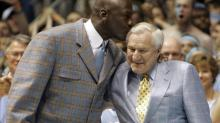 Dean Smith and Michael Jordan in 2007