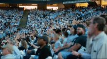 UNC fans at Dean Dome for Final Four