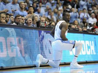 Theo Pinson (1) makes his season debut during NCAA basketball action at the Dean E. Smith Center between the North Carolina Tar Heels and the NC State Wolfpack on January 8, 2017 in Chapel Hill, NC. (Will Bratton/WRAL contributor)