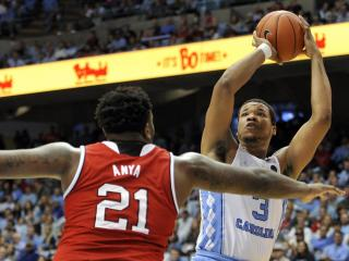 Kennedy Meeks (3) takes a shot during NCAA basketball action at the Dean E. Smith Center between the North Carolina Tar Heels and the NC State Wolfpack on January 8, 2017 in Chapel Hill, NC. (Will Bratton/WRAL contributor)