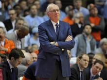 Syracuse head coach Jim Boeheim during NCAA basketball action at the Dean E. Smith Center between the North Carolina Tar Heels and the Syracuse Orange on January 16, 2017 in Chapel Hill, NC. (Will Bratton/WRAL contributor)