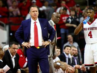 Coach Mark Gottfried during the game. Carolina defeats NC State 97-73 at the PNC Arena in Raleigh, NC on February 15, 2017. (Photo by: Jerome Carpenter/WRAL Contributor)