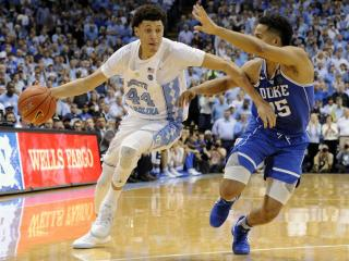 Justin Jackson (44) during NCAA basketball action at the Dean E. Smith Center between the North Carolina Tar Heels and the Duke Blue Devils on March 4, 2017 in Chapel Hill, NC. (Will Bratton/WRAL contributor)