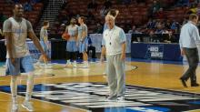 IMAGES: Tar Heels practice at NCAA Tournament in Greenville, SC