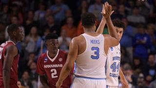 UNC escapes Arkansas upset bid in 72-65 tourney win