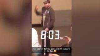 UNC's Luke Maye gets standing ovation in 8 a.m. class