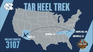 Tar Heels reach end of 3,000-mile Road to Final Four