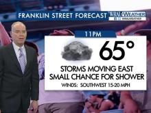Franklin Street forecast: Showers may dampen postgame party