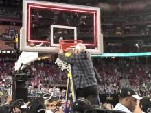 Roy Williams cuts down the net in Phoenix