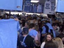 Fans flood Chapel Hill for championship t-shirts, merch