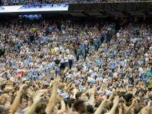 UNC players, fans join in singing Hark the Sound