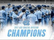 UNC baseball Coastal Division Champs 2017