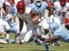 No. 17 Louisville beats UNC 47-35