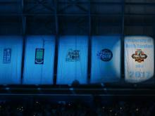 UNC raises National Championship banner at Late Night with Roy 2017