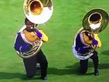 ECU band members kneel during national anthem