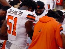Browns players kneel, pray during national anthem