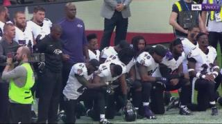 NFL players kneel during the national anthem