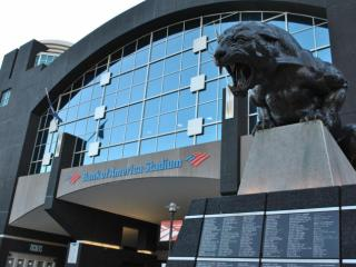 Fans gathered at Bank of America Stadium in Charlotte, N.C. to watch the Panthers make the first overall pick in the NFL draft Thursday, April 28.