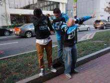 Carolina Panthers fans in Charlotte
