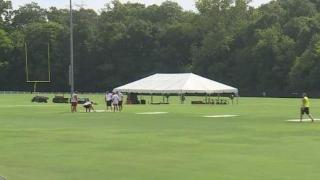 Wofford College preps for Panthers training camp