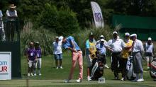 Chesson Hadley teeing off