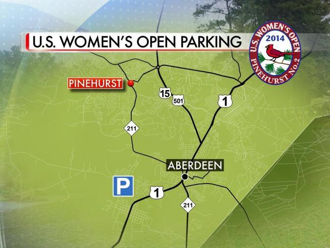 Us Open Golf Parking Map One main parking lot funnels fans to women's U.S. Open