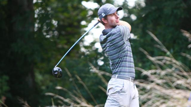 Webb Simpson tees off. Sedgefield Country Club hosted the 2016 Wyndham Championship on August 18, 2016 in Greensboro, North Carolina. (Jerome Carpenter/WRAL Contributor)