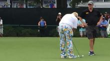 IMAGES: Colorful clothes on the course at PGA Championship