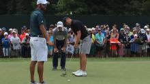 IMAGES: Spieth 'free rolling,' feeling good about career slam chance