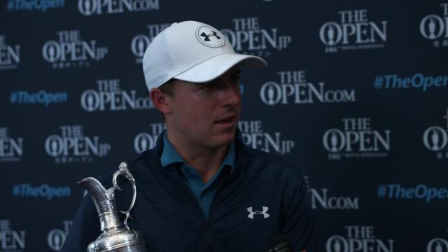 90da2de1d9bd Golfer Jordan Spieth wins his 3rd major championship by winning the 146th  British Open at Royal