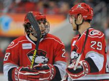 The Charlotte Checkers traveled to Raleigh to play Sunday at the PNC Arena.