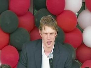 Eric Staal, captain of the Carolina Hurricanes.