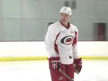 Canes players get back on the ice in Raleigh