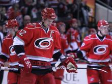 The Carolina Hurricanes earned their first win of the season with a 6-3 win over Buffalo Thursday, Jan. 24, 2013 at PNC Arena.