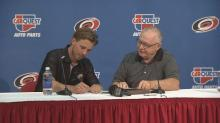 IMAGE: Canes sign top pick Lindholm to 3-year deal