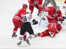 Hurricanes fall to Blackhawks in shootout, 3-2
